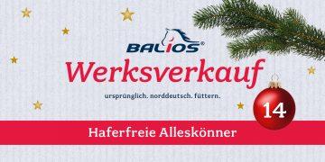 Weihnachtlicher Werksverkauf: 14. Dezember